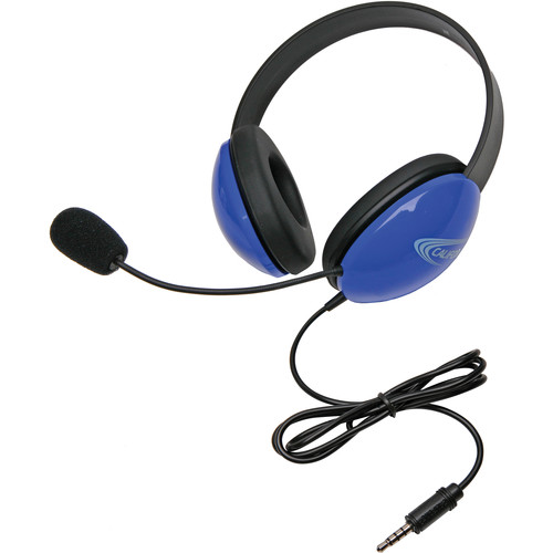 Califone 2800-BLT Headset (3.5mm To Go Plug, Blue)