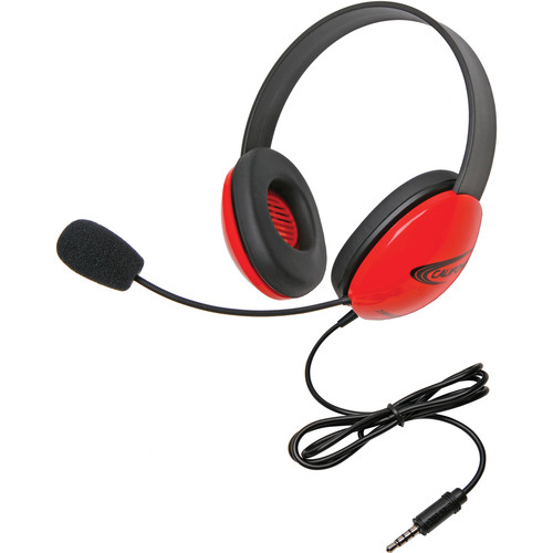 Califone 2800-RDT Headset (3.5mm To Go Plug, Red)