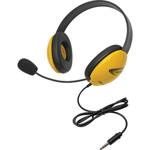 Califone 2800-YLT Headset (3.5mm To Go Plug, Yellow)