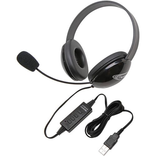 Califone 2800BK-USB Headset (USB, Black)