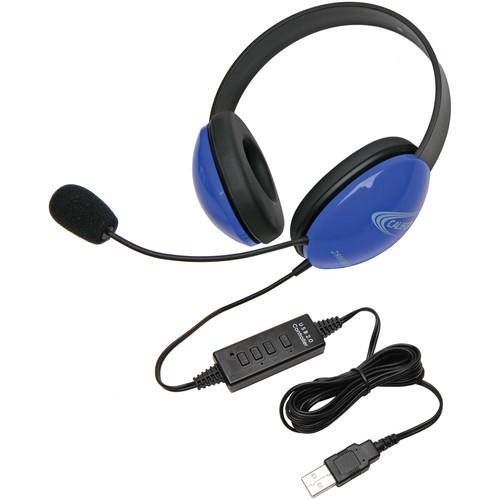 Califone 2800BL-USB Headset (USB, Blue)