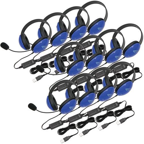 Califone 2800BLUSB-12L Headset (USB, Blue, 12-Pack)
