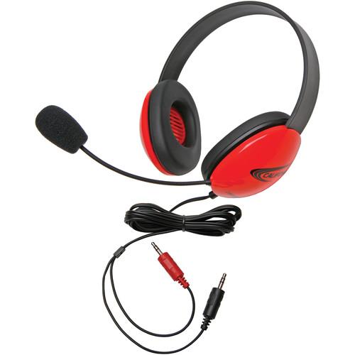 Califone 2800RD-AV Headset (Dual 3.5mm Plug, Red)
