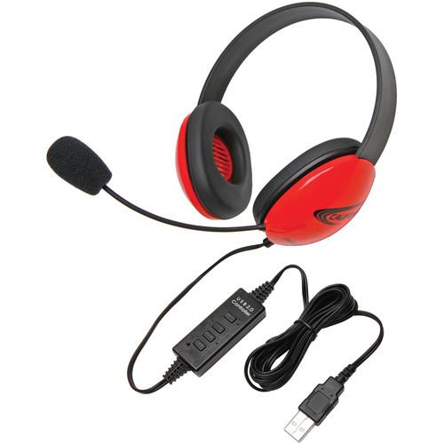 Califone 2800RD-USB Headset (USB, Red)