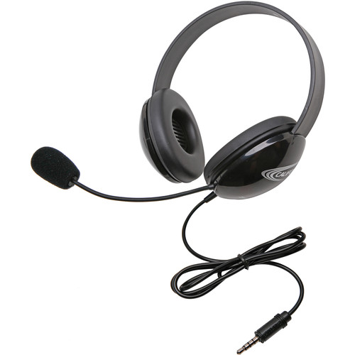 Califone 2800-TBK Headset (3.5mm To Go Plug, Black)