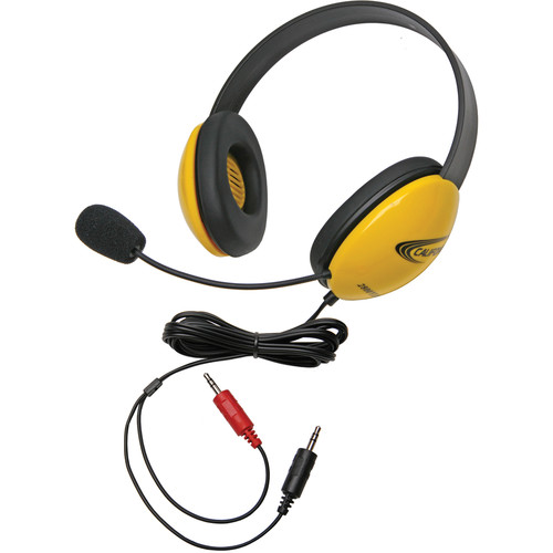 Califone 2800YL-AV Headset (Dual 3.5mm Plug, Yellow)