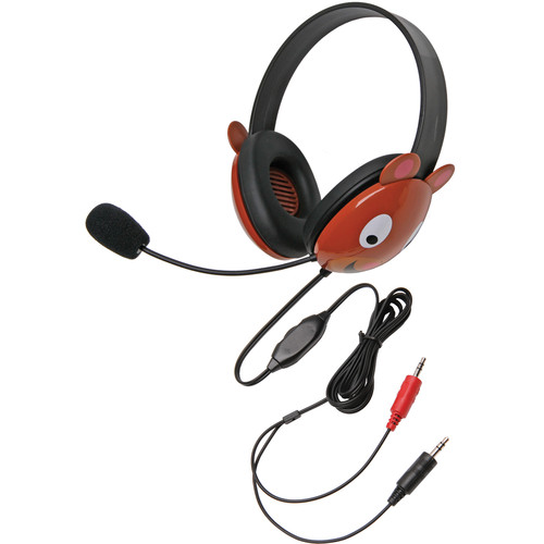 Califone 2810BE-AV Listening First Animal-Themed Stereo Headset (Dual 3.5mm Plug, Bear)