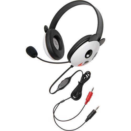 Califone 2810PA-AV Listening First Animal-Themed Stereo Headset (Dual 3.5mm Plug, Panda)