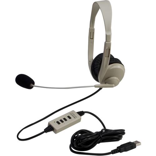 Califone 3064USB-10L Multimedia Stereo USB Headset (10-Pack)