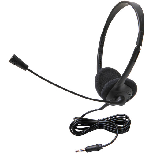 Califone 3065AVT Lightweight Personal Multimedia Stereo Headset (3.5mm To Go Plug)