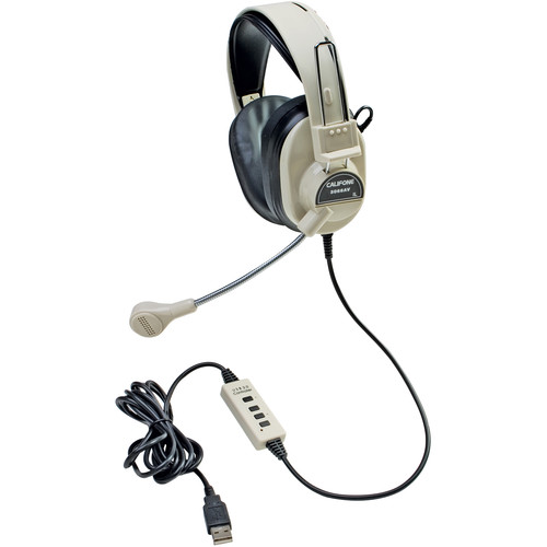 Califone Deluxe Stereo Headset with USB Plug (Beige)