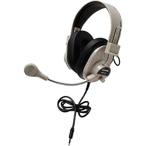 Califone 3066AVT Deluxe Multimedia Stereo Headset (3.5mm To Go Plug)