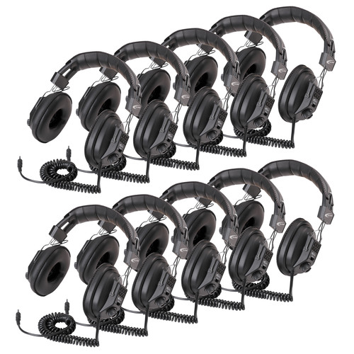 Califone 3068AV Switchable Stereo/Mono Headphones (Classroom 10-Pack)