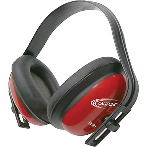 Califone HS40 Hearing Protector Headphones (Red)