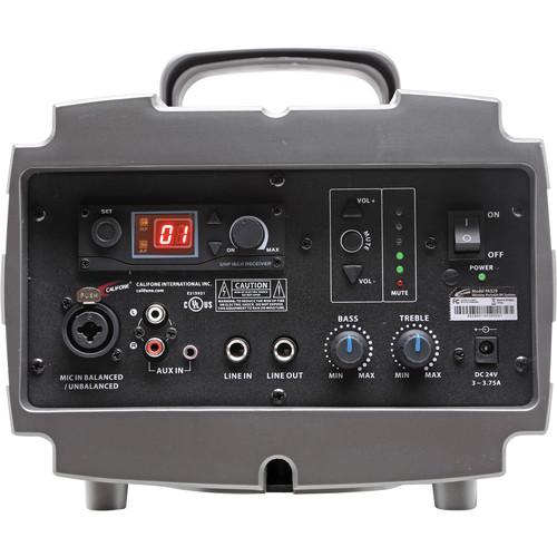 Califone PA329 Wireless Presentation Pro Speaker with PI-RC Remote Control