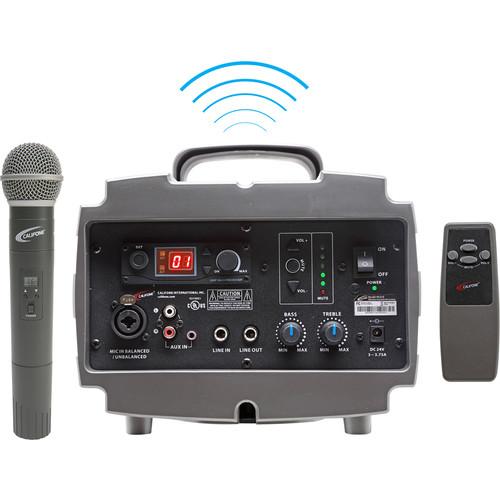 Califone PA329Q Wireless PresentationPro PA System with Q319 Handheld Wireless Microphone