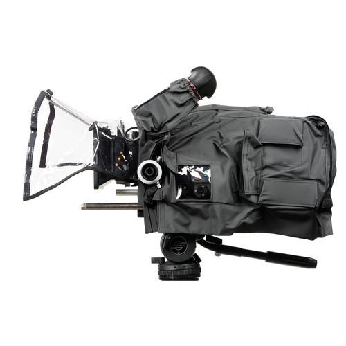 camRade Protective Rain Cover/wetSuit for the ARRI Amira Camcorder with MB14 Matte Box and Long Lens