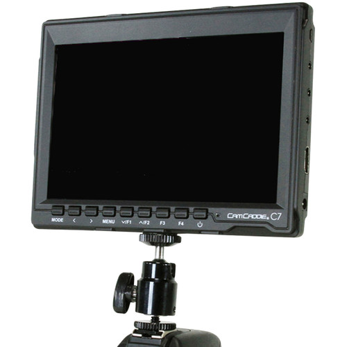Cam Caddie 7 HD IPS DSLR Monitor + Canon LP-E6 Battery Plate (US Power Supply)
