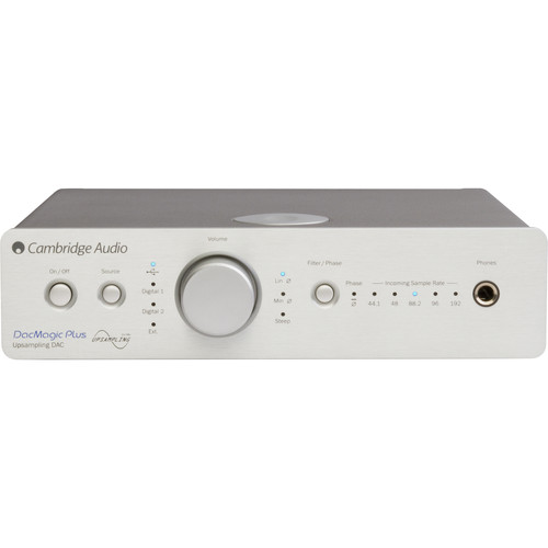 Cambridge Audio DacMagic Plus Upsampling DAC, Preamplifier, and Headphone Amplifier (Silver)