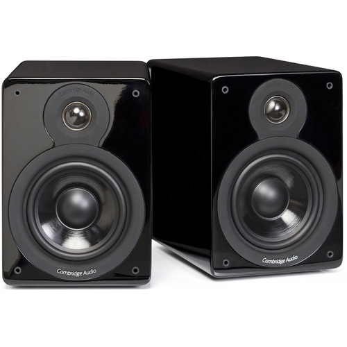 Cambridge Audio Minx XL 2-Way Bookshelf Speakers (Gloss Black, Pair)