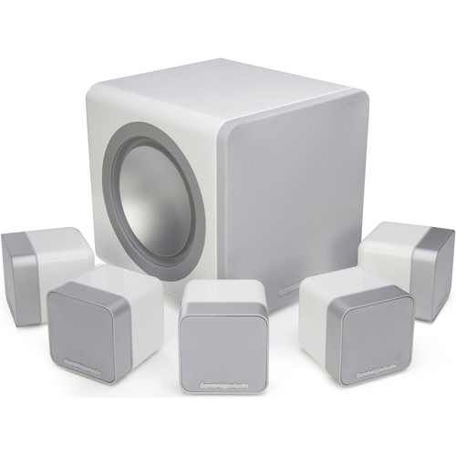 Cambridge Audio Minx Min 12 Speakers and X201 Subwoofer 5.1 System (White)