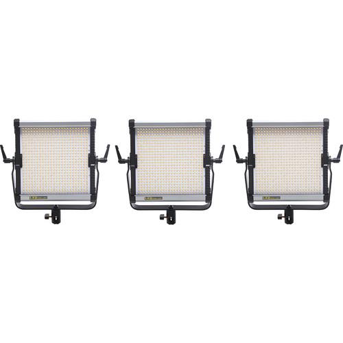 CAME-TV 576B Bi-Color LED 3 Light Kit with NP-F Mounts