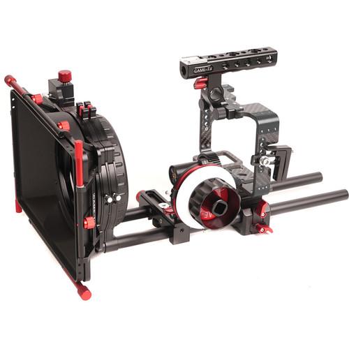 CAME-TV Carbon Fiber Rig Mattebox Follow Focus Kit for Sony a7 Series Cameras (Black)