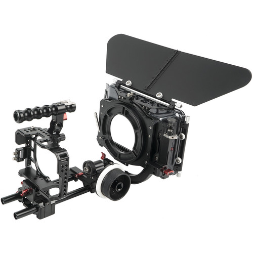 CAME-TV A7S-PACK CAME-TV Protective Cage Plus for A7S Camera with Mattebox Follow Focus