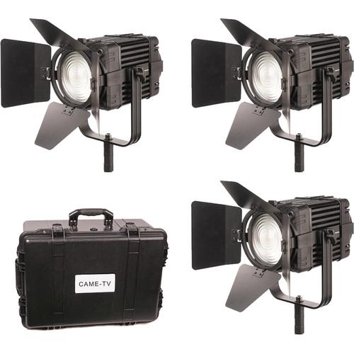 CAME-TV Boltzen 100W Fanless Focusable Fresnel Daylight LED 3-Light Kit