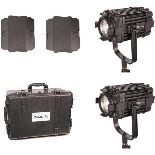 CAME-TV Boltzen 60W Fanless Focusable Fresnel Daylight LED 2-Light Kit