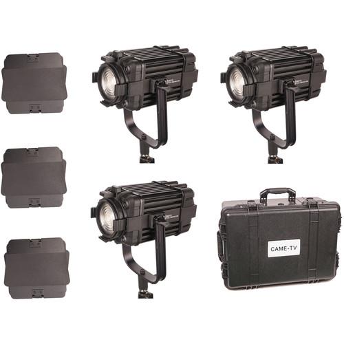 CAME-TV Boltzen 60W Fanless Focusable Fresnel Daylight LED 3-Light Kit
