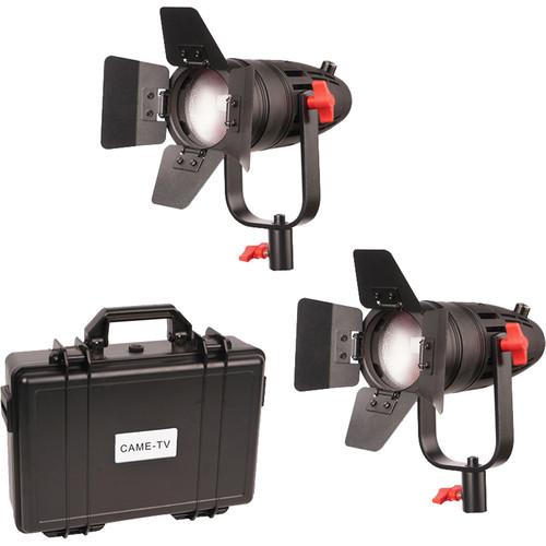 CAME-TV Boltzen 30W Fresnel Fanless Focusable LED Bi-Color Fixture Kit (Set of 2 Fixtures)