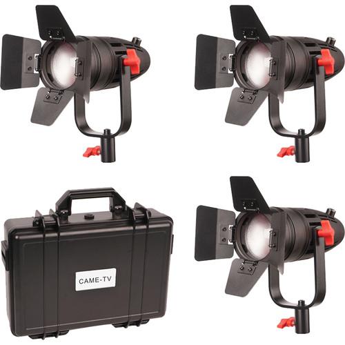 CAME-TV Boltzen 30W Fresnel Fanless Focusable LED Bi-Color Fixture Kit (Set of 3 Fixtures)