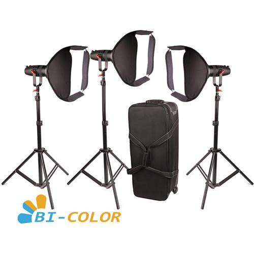 CAME-TV Boltzen 30W Bi-Color Fanless Focusable LED Fresnel 3-Light Kit