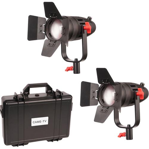 CAME-TV Boltzen 30W Fresnel Fanless Focusable LED Tungsten 2-Light Kit