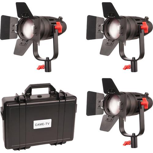 CAME-TV Boltzen 30W Fresnel Fanless Focusable LED Tungsten 3-Light Kit
