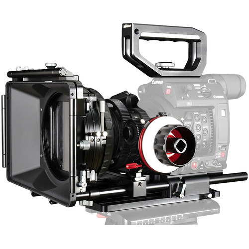 CAME-TV Camera Rig Matte Box & Follow Focus Kit for Canon EOS C200