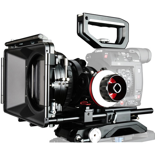 CAME-TV Shoulder Rig with Matte Box & Follow Focus for Canon EOS C200 Cinema Camera