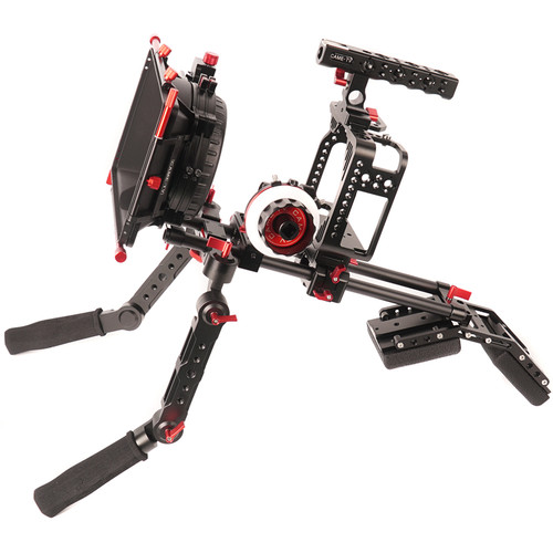 CAME-TV Protective Cage Kit with Handgrip and Shoulder Support for Canon 5D