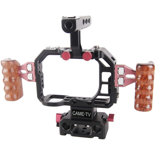 CAME-TV ILCE-7S Cage for Sony a7S with Side Wooden Handles
