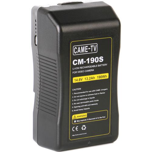 CAME-TV 190Wh Battery V-Mount for Video Cameras & Lights