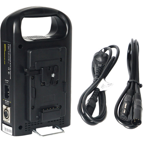 CAME-TV V-Mount 2-Channel Li-Ion Battery Charger & Power Supply for Select Cameras