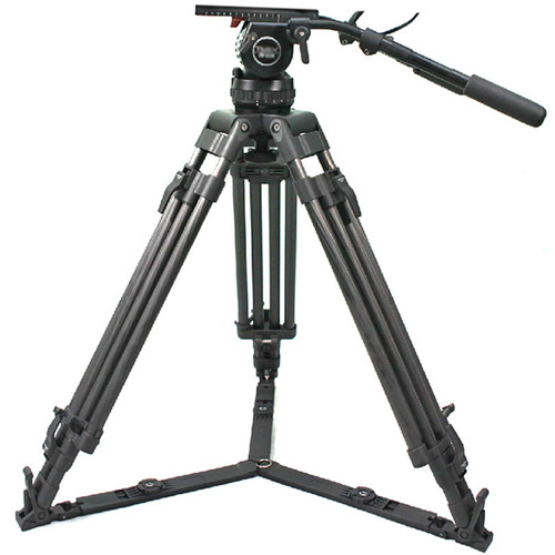 CAME-TV Professional Carbon Fiber Tripod with Video Fluid Head (100mm)