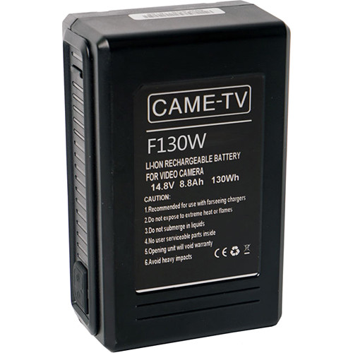 CAME-TV Compact 130Wh 14.8V V-Mount Battery