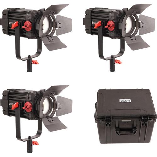 CAME-TV Boltzen 100W Fresnel Focusable LED Bi-Color 3-Light Kit