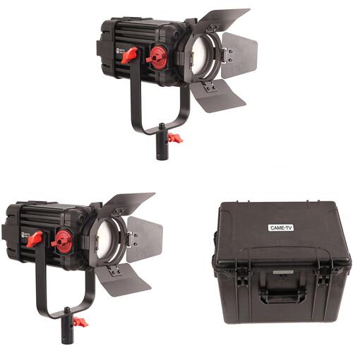 CAME-TV Boltzen 100W Fresnel Focusable LED Daylight 2-Light Kit
