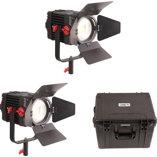 CAME-TV 2 Pieces Boltzen 150W Fresnel Focusable LED Daylight Kit