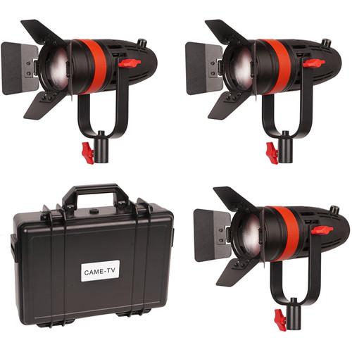 CAME-TV Boltzen 55W Bi-Color LED Fresnel 3-Light Kit