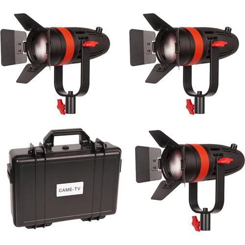 CAME-TV Boltzen 55W Fresnel Focusable LED Tungsten 3-Light Kit