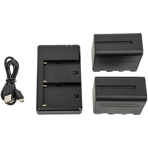 CAME-TV 2 x CA-F970 Batteries & FM50 USB Charger Kit